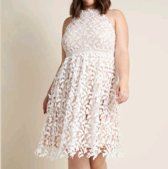 Modcloth Dresses | Lace Midi Dress Plus Size Xl | Poshmark